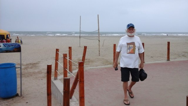 Doug at the beach in Canoa, Ecuador